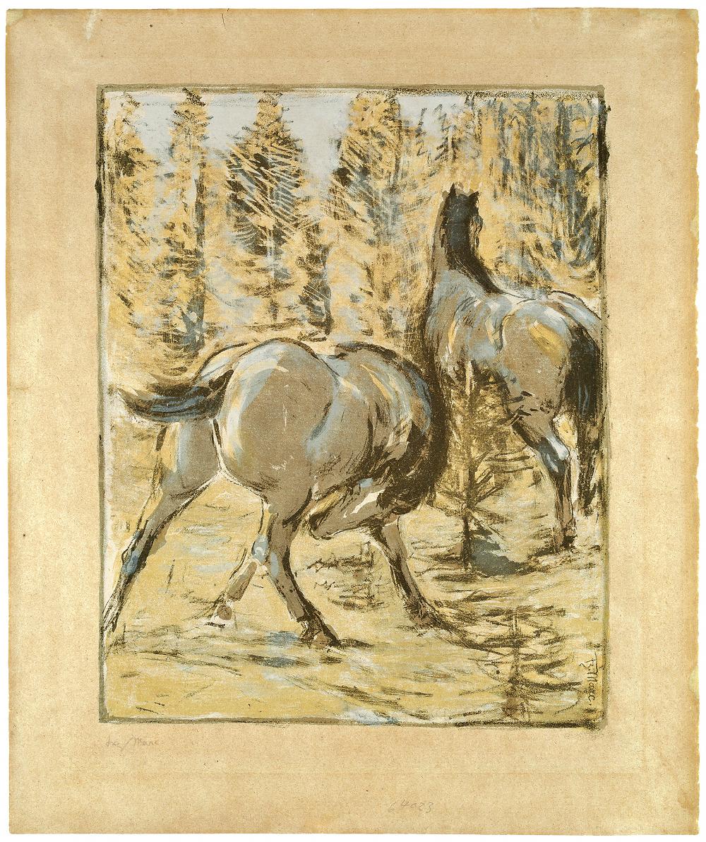 Franz Marc Weidende Pferde IV
