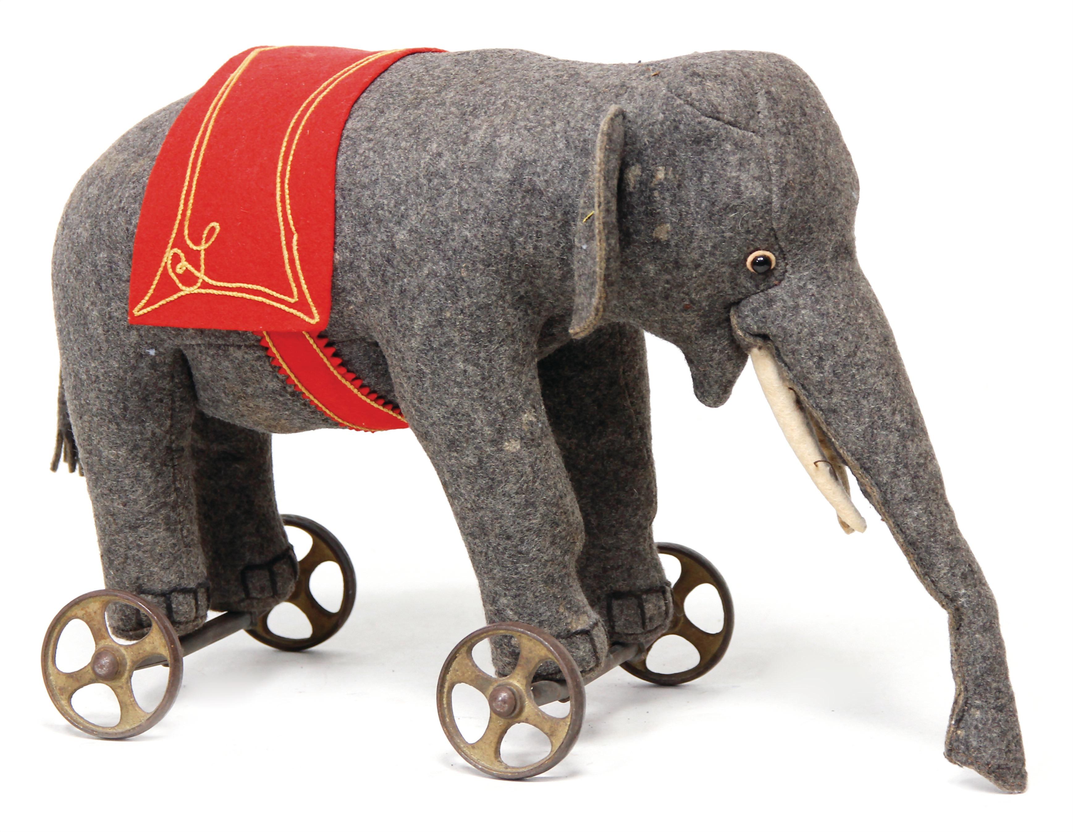 alter Elefant Steiff Knopf * Fahne