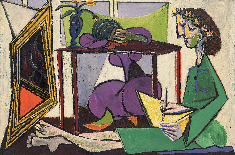 Pablo Picasso Gemlde Mdchen vor dem Spiegel - Etsycom