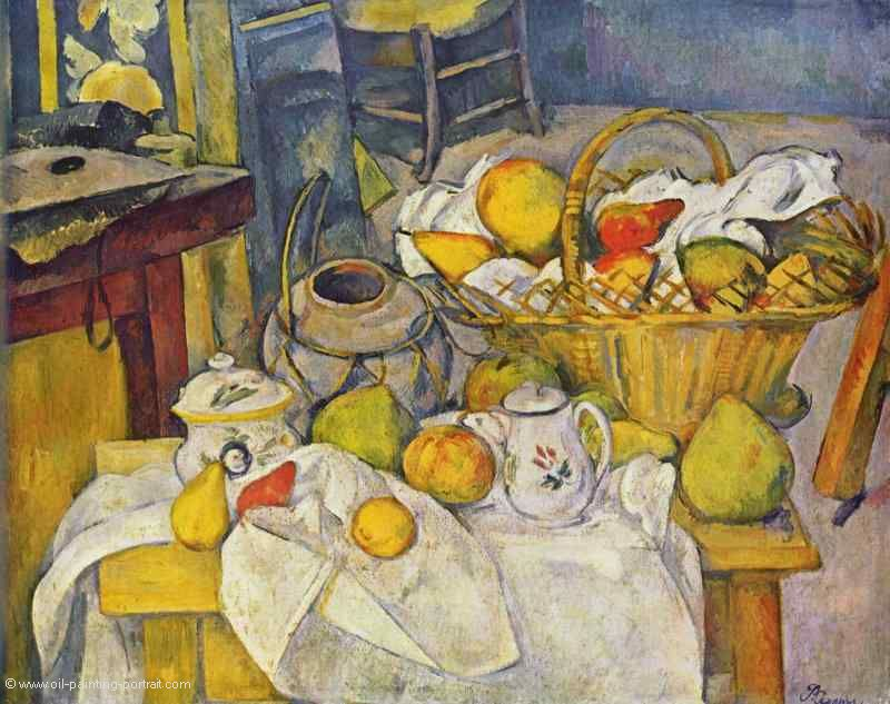 paul cezanne stillleben mit glas und äpfeln