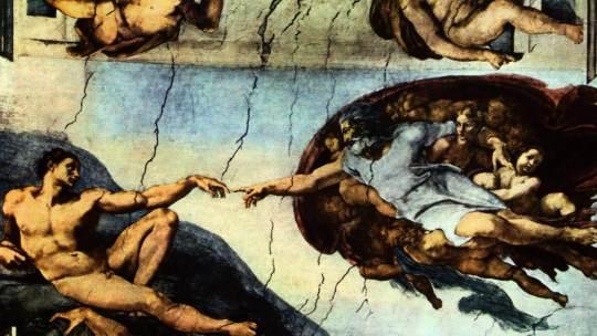 deutsch deckenfresko zur schpfungsgeschichte in der sixtinischen kapelle hauptszene der schpfergott erschafft adam - Michelangelo Lebenslauf