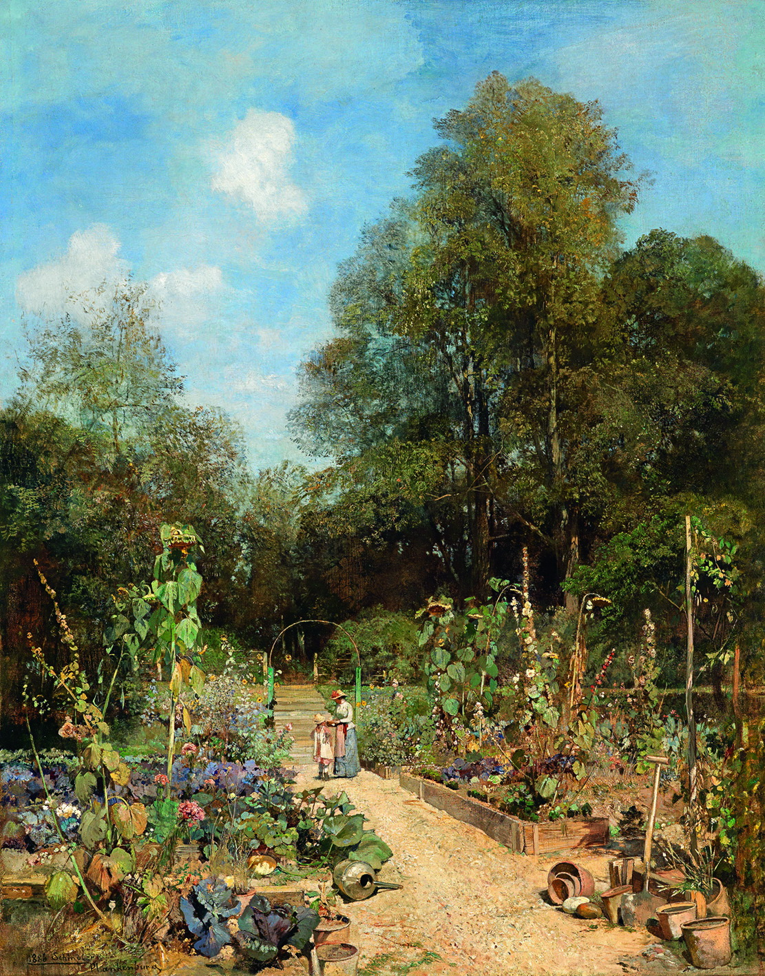 Garden Paintings By Famous Artists