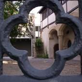 Blick in den Hof des Geburtshauses