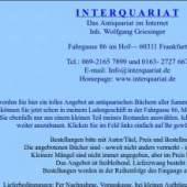 Unternehmenslogo Das Antiquariat im Internet Wolfgang Griesinger