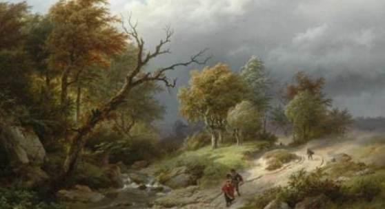 B.C. Koekkoek, Der Sturm, 1843, Sammlung Simonis & Buunk, Ede
