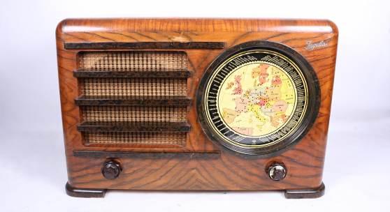 Radiogerät Ingelen Geographic US-437W, 1936/37, bunte Abstimmskala, Rufpreis € 500