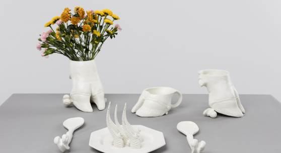 Ingeborg Strobl Keramikobjekte, 1973 – 1974 Keramik, weiß, matt glasiert / ceramic, white-mat glazed mumok – Museum moderner Kunst Stiftung Ludwig, Schenkung Ingeborg Strobl, 2017 © Bildrecht Wien 2019 Photo: © mumok
