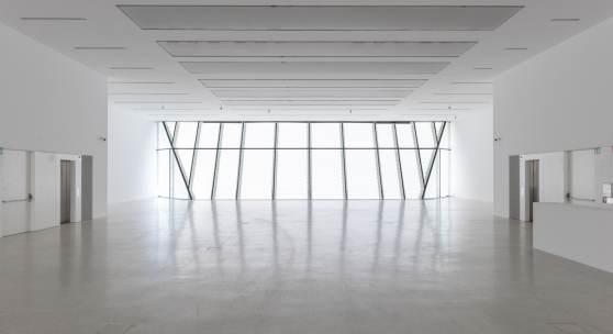 """Museion, der """"leere"""" Raum im vierten Stock bereit fur die Aktion #heretostay!  Foto Luca Meneghel"""