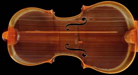 Hochleistungs-CT-Scan der Violine Absam 1682TLMF Musiksammlung Inv. Nr. M/I 230, im Rahmen des Projektes violinforensic© TLM