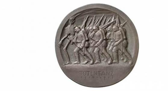 Ludwig Gies, Totentanz, 1917 Vorderseite. Bronze, 121 mm  © Staatliche Museen zu Berlin, Münzkabinett / Reinhard Saczewski