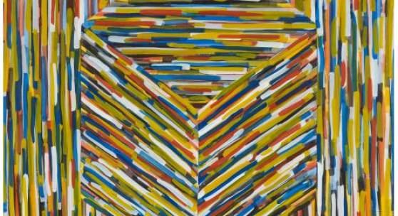 Sol LeWitt (1928 – 2007)  Cube (B) | 1994 | Gouache auf Papier |  155x153,5cm  Ergebnis: 163.625 Euro  Dt. Auktionsrekord für eine Gouache für diesen Künstler