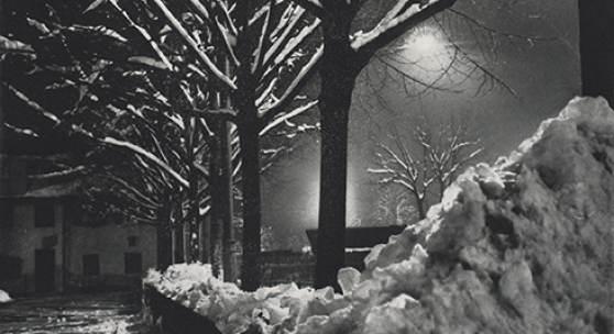 Mark Markarian Winternacht in München 1932, Bromöldruck Schenkung Silvia Markar Jekova, 2015 © Münchner Stadtmuseum