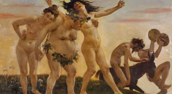 Lovis Corinth, Heimkehrende Bacchanten, 1898, Von der Heydt-Museum, Wuppertal, Foto: Von der Heydt-Museum, Wuppertal
