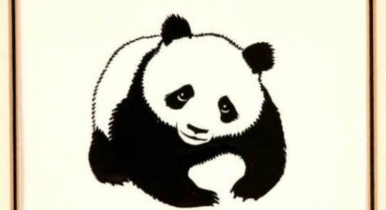 Erstes Panda-Logo, Peter Scott, 1961. Leihgabe aus Privatsammlung, England.
