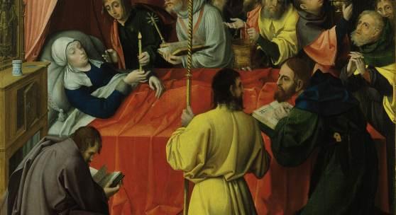 Gregorie Guérard, Der Tod Mariens, um 1520, Suermondt-Ludwig-Museum, Aachen © Foto Anne Gold, Aachen