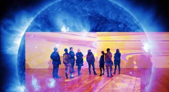 LOOKING AT THE SUN AT MIDNIGHT  SDO / NASA, 2011  TESTCUTS II, 2010  © Katharina Sieverding/VG Bild-Kunst, Bonn 2013  © Fotos: Klaus Mettig/VG Bild-Kunst, Bonn 2013