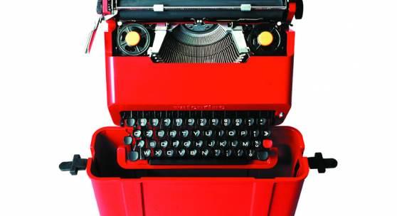 Valentine, Reiseschreibmaschine   Sottsass und Perry A. King, 1969 Hersteller: Olivetti Foto: Alberto Fioravanti  Courtesy: Studio Ettore Sottsass