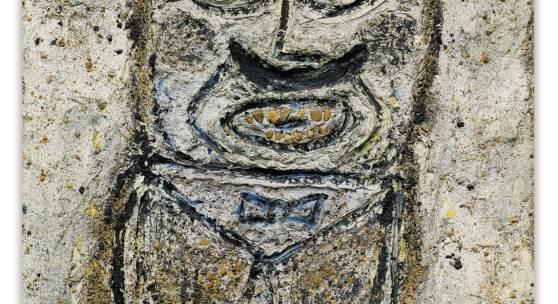 7 JEAN DUBUFFET PORTRAIT D'HOMME MOUSTACHU FAÇON CARTON PÂTE  1,250,000 - 1,800,000EUR
