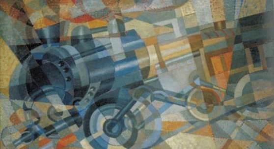 Erika Giovanna Klien  Lokomotive, 1926  Öl auf Leinwand  59,5 x 99 cm  Sammlung Pabst  Foto © Sammlung Pabst