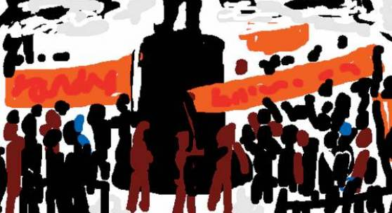 David Ter-Oganyan protests near griboedov5.sketch, 2009 Digitale Zeichnung, Maße variabel / digital drawing, various dimensions © David Ter-Oganyan