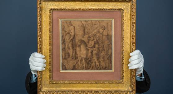 ANDREA MANTEGNA   Recently Rediscovered Drawing for his Famed Series THE TRIUMPHS OF CAESAR *Estimated to Achieve in Excess of $12 Million*
