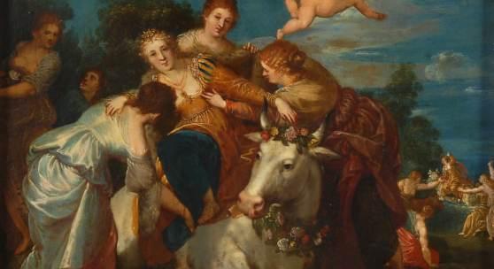 Frühbarocke Szene mit Raub der Europa, 1619
