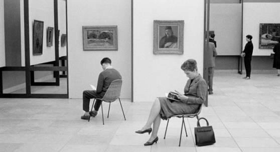 Paul Gauguin Ausstellung, Installationsansicht, 1960, Stadtarchiv München, RD0833C26