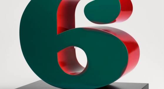 Lot 50 Nr. 398 871 Robert Indiana Six. 1980/2001 Mehrfarbiges Aluminium auf Stahlplinthe, 198 x 188 x 96,5 cm. Ex. 6/6 (+2 A.P.) Schätzpreis: EUR 200.000 – 230.000,-