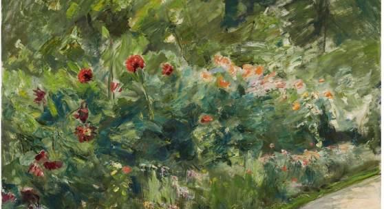 Nr. 380 440 Max Liebermann Blumenstauden im Nutzgarten nach Südwesten. 1926 Öl auf Leinwand, 71,5 x 94,5 cm Schätzpreis: € 400.000 – 500.000,- Ergebnis: € 916.000,-