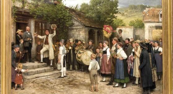 1417 Casimir Geibel, 'Erntefest in Thüringen', Limit 16.000,- EUR