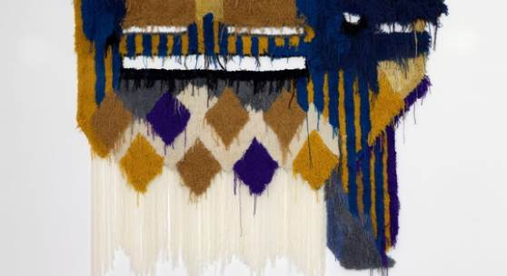 Caroline Achaintre, Hocus Locus, 2018, Hand tufted wool, 275 x 280 cm, Courtesy Arcarde London & Brussels und Art:Concept, Paris