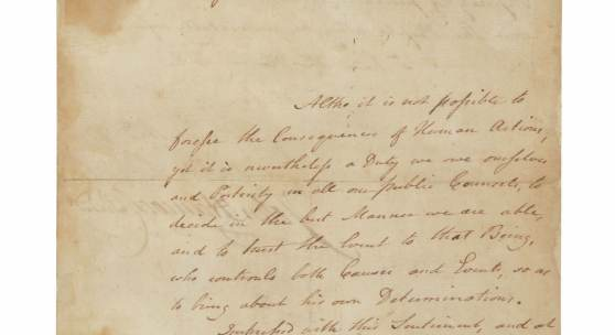 10301 Lot 2271 - John Hancock, manuscript letter signed, announcing the adoption of the Declaration of Independence, 6 July 1776