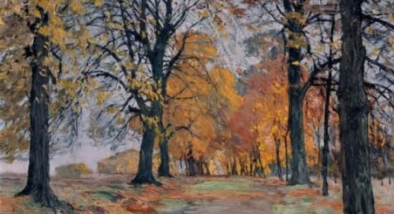 """143  Otto Altenkirch """"Reinsberger Lindenallee (Herbst)"""". 1931. 8.500 €"""