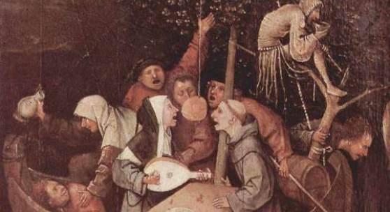 """Bosch, Hieronymus  Das Narrenschiff Renaissance   Das Gemälde """"Das Narrenschiff"""" von Bosch, Hieronymus als hochwertige, handgemalte Ölgemälde-Replikation. Originalformat: 57,8 x 32,5 cm. Bildmaterial: www.oel-bild.de"""
