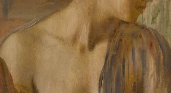 10495 Lot 23 - Edgar Degas, Buste de jeune femme presque nue