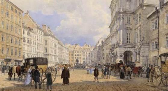 ALT, Rudolf von 1812 - 1905 Der Neue Markt (Mehlmarkt) 1836    € 70.000 - 130.000,
