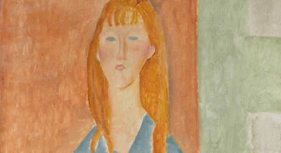 10680 Amedeo Modigliani, Jeune Fille Assise, Les Cheveux Dénoué
