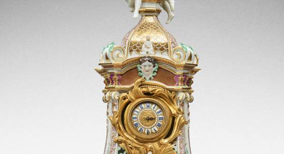 10776 Lot 64 A highly important documentary and dated Meissen mantel clock case