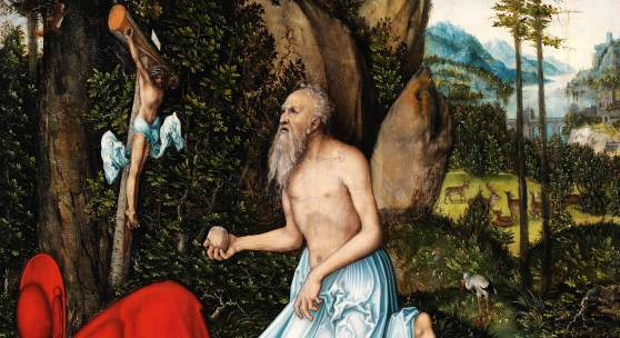 Lucas Cranach d. Ä., Hl. Hieronymus, um 1525 , 89,8 x 66,9 cm, Malerei auf Holz Tiroler Landesmuseum Ferdinandeum, Ältere Kunstgeschichtliche Sammlungen Copyright: TLM