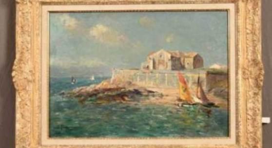 "1100 PETITJEAN, Edmond Marie (Neufchateau 1844-1925 Paris; Museen: Reims, Lyon, Calais, Paris u.a.), ""Atlantikküste bei St. Malo"", sig., Öl/Lw. 50x65 8500.-- €"