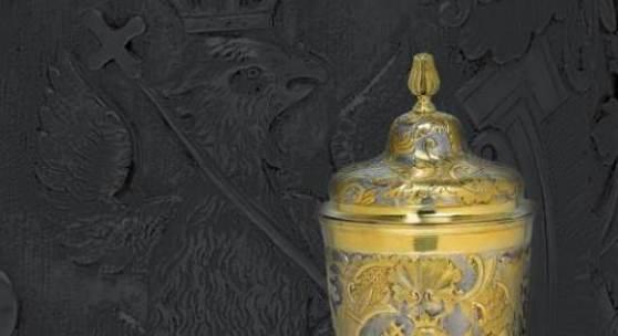 Fotonachweis: Dorotheum Großer Moskauer Deckelbecher mit dem Wappen der Fürsten Gortschakow, erzielter Preis € 104.000