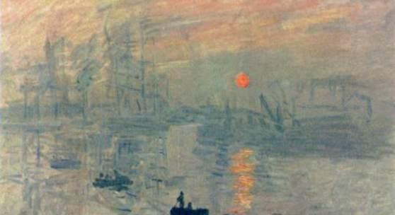 "Monet, Claude  Impression Sonnenaufgang Impressionismus   Das Gemälde ""Impression, Sonnenaufgang"" von Claude Monet als hochwertige, handgemalte Ölgemälde-Replikation. Originalformat: 48 x 63 cm. Bildmaterial: www.oel-bild.de"