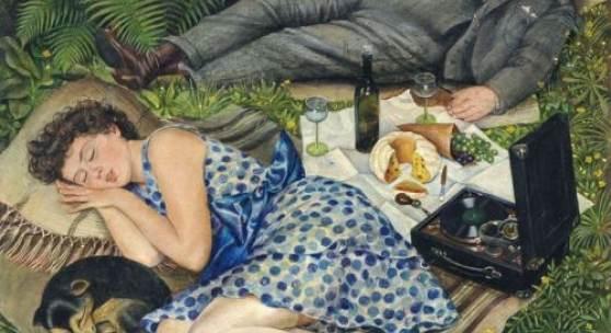 """Georg Siebert """"Wochenende"""". 1928.  12.000 €"""