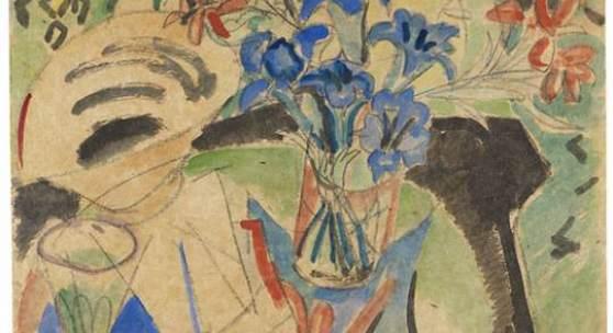 Lot: 323   Kirchner, Ernst Ludwig  Stilleben mit Enzian und Türkenbund, 1920.  Schätzpreis: 40.000 EUR / 53.600 $