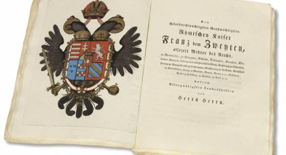 34 Joachim J. N. Spalowsky Beytrag zur Naturgeschichte der vierfüssigen Thiere. 2 Bde., 1794. Schätzung: € 35.000 Ergebnis: € 72.000