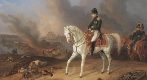 Albrecht Adam Napoleon vor dem brennenden Smolensk Öl auf Leinwand, 1836 59,7 x 78,5 cm Schätzpreis: € 100.000-120.000