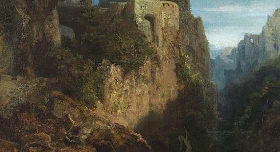 Carl Spitzweg - Nixenfang Öl auf Leinwand, um 1875, 29,2 x 22,2 cm Erlös: € 137.500*