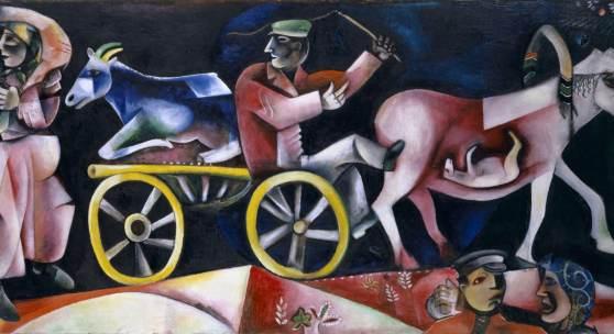Marc Chagall: Der Viehändler (1912), Kunstmuseum Basel, Foto: Martin P. Bühler