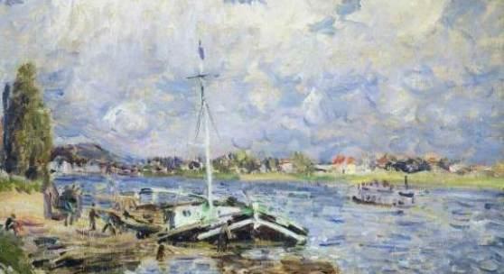 Alfred Sisley Bateaux sur la Seine, 1877