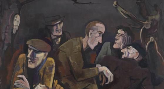 120002389 KARL HOFER Arbeitslose, 1932. Öl auf Leinwand Schätzpreis: € 300.000 - 400.000